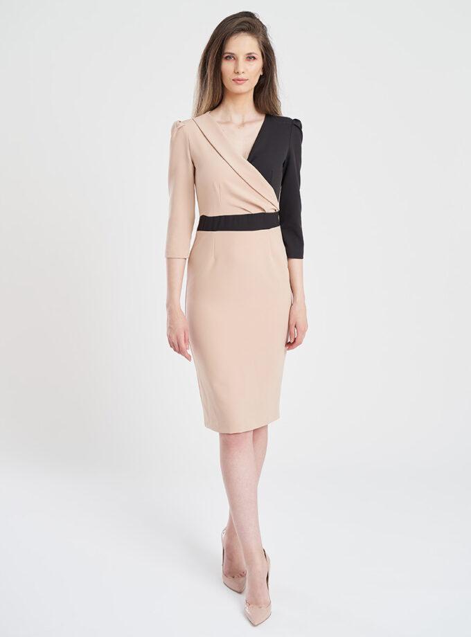 rochie eleganta in doua culori