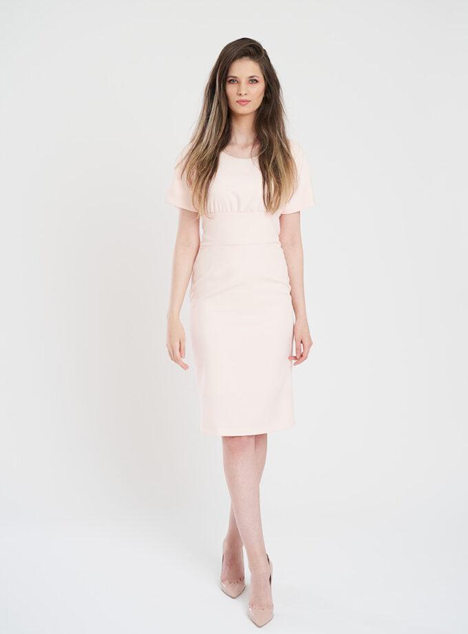 rochie office midi roz prafuit