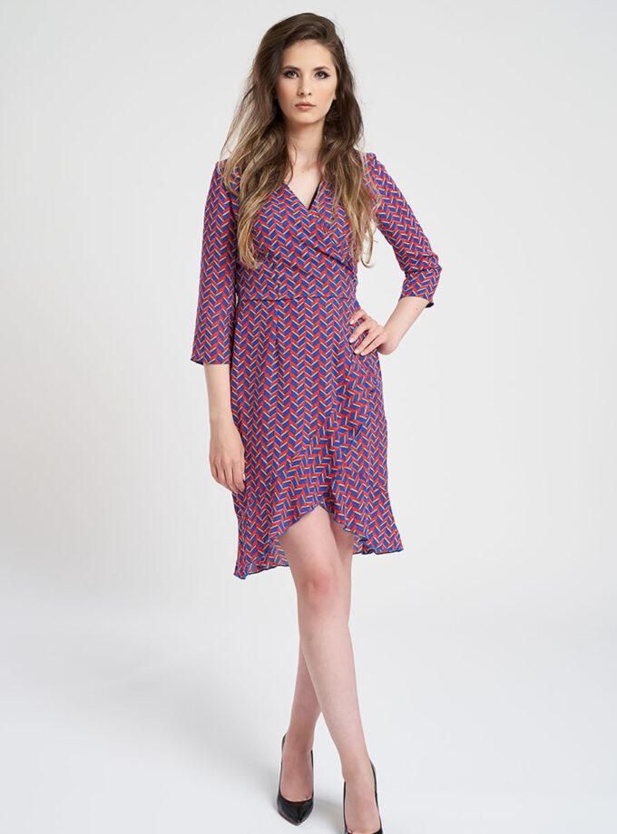 rochie casual cu imprimeu