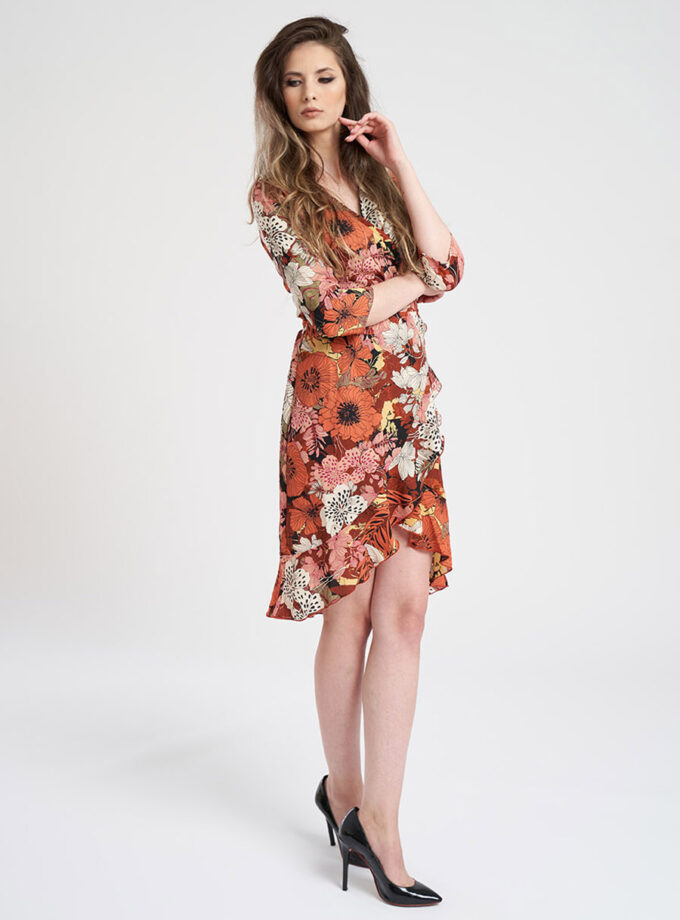 rochie casual cu imprimeu floral