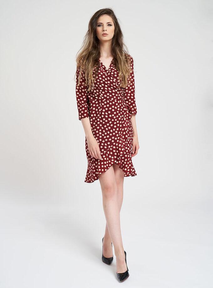 rochie cu buline visineie