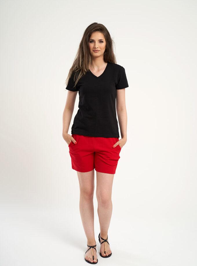 set pantaloni rosii cu tricou negru