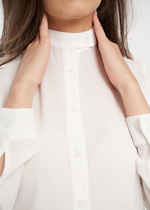 camasa dama alba cu guler tunica