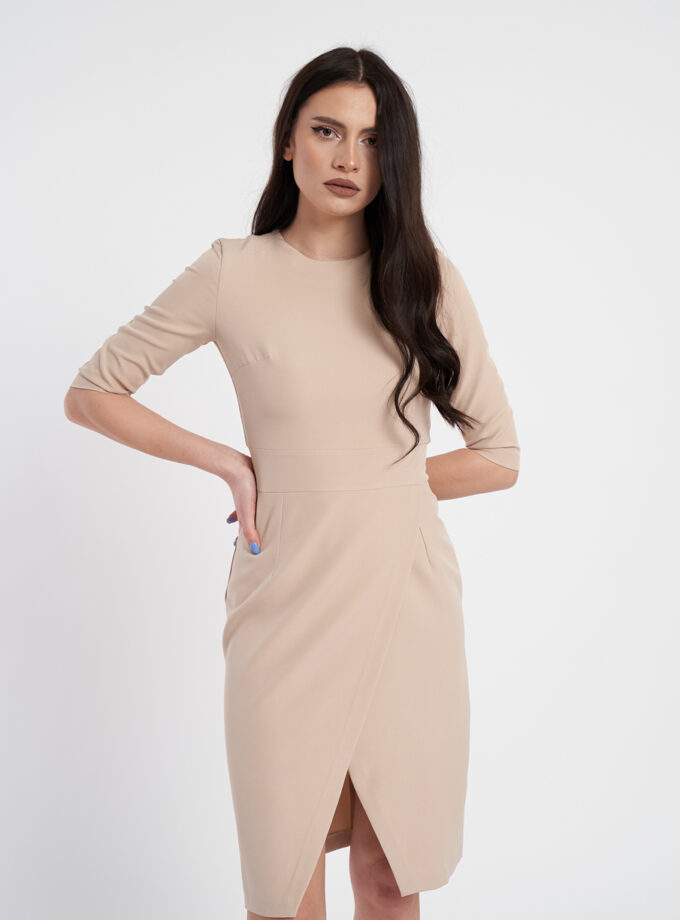 Rochie eleganta crem
