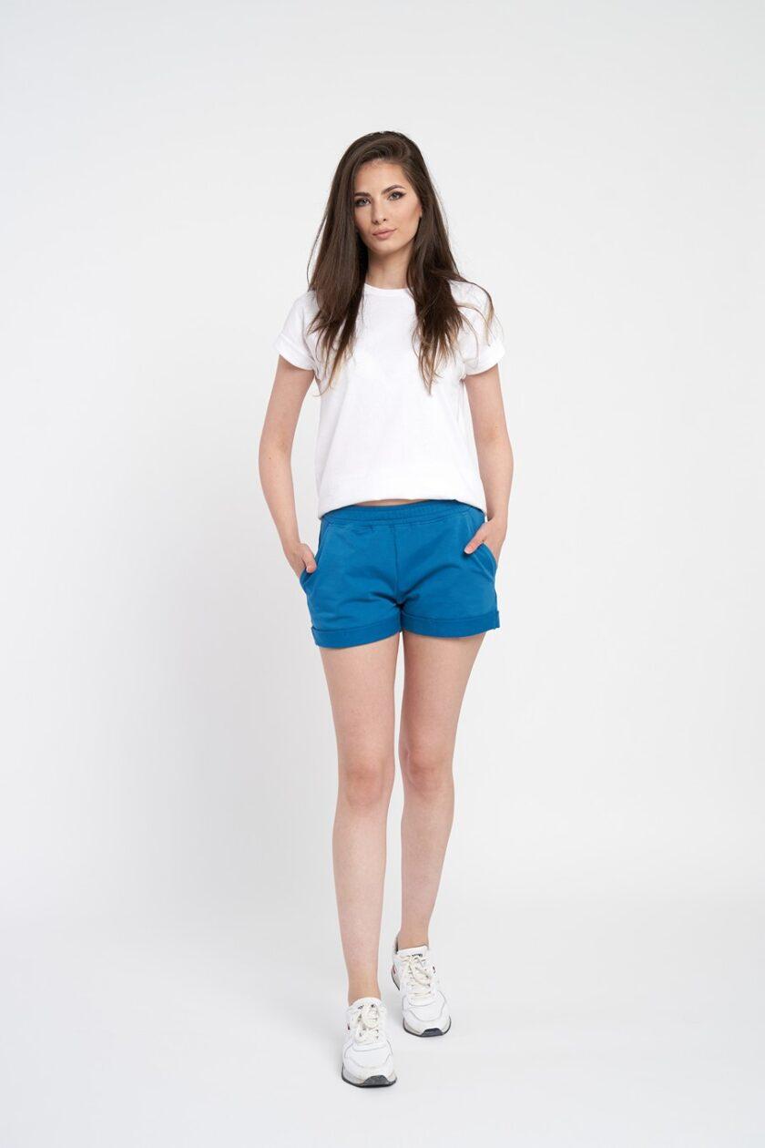 Pantaloni scrurti dama albastri