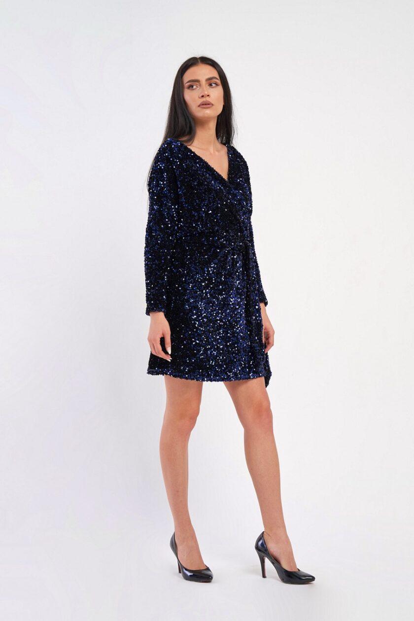Rochie de paiete albastra
